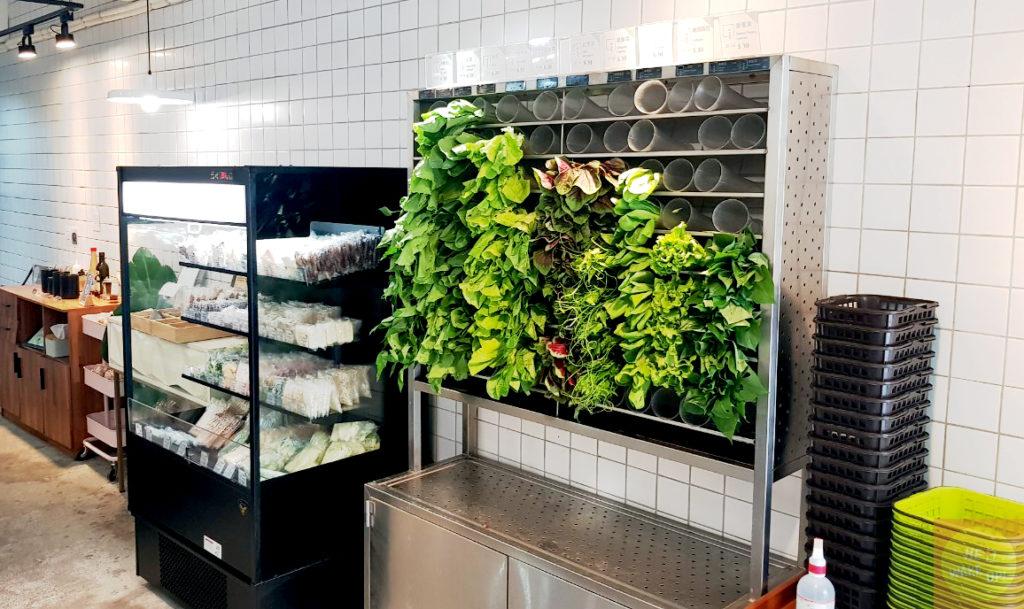 挑菜選購區