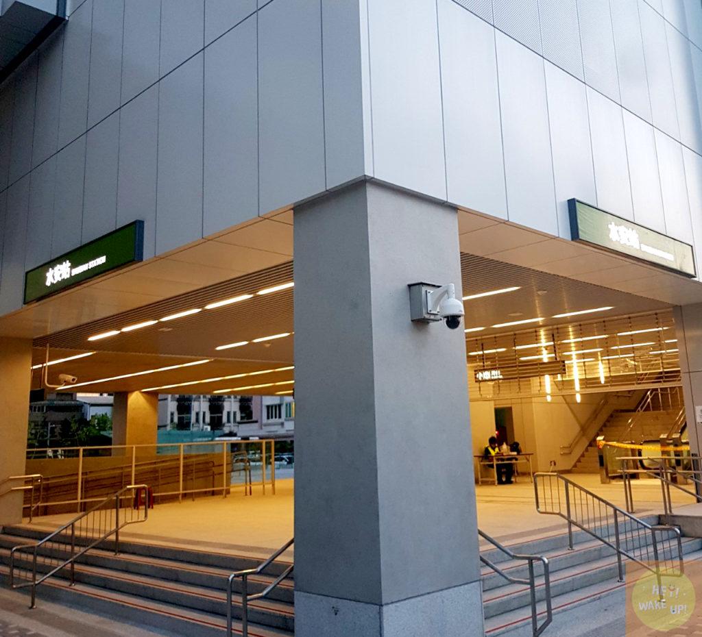 台中捷運水安站路口