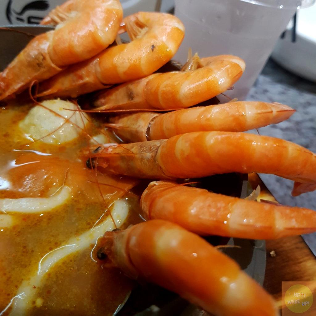 叻沙鮮蝦鍋燒7隻蝦