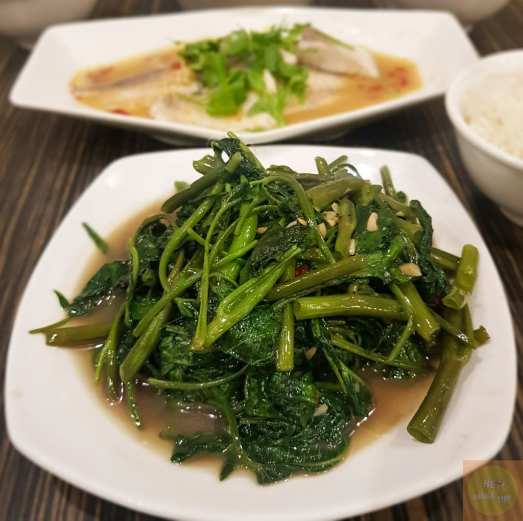炒空心菜(蝦醬)