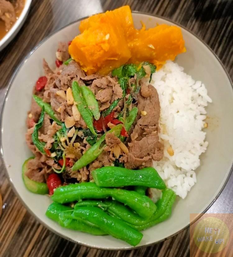 泰式紅咖哩牛肉飯