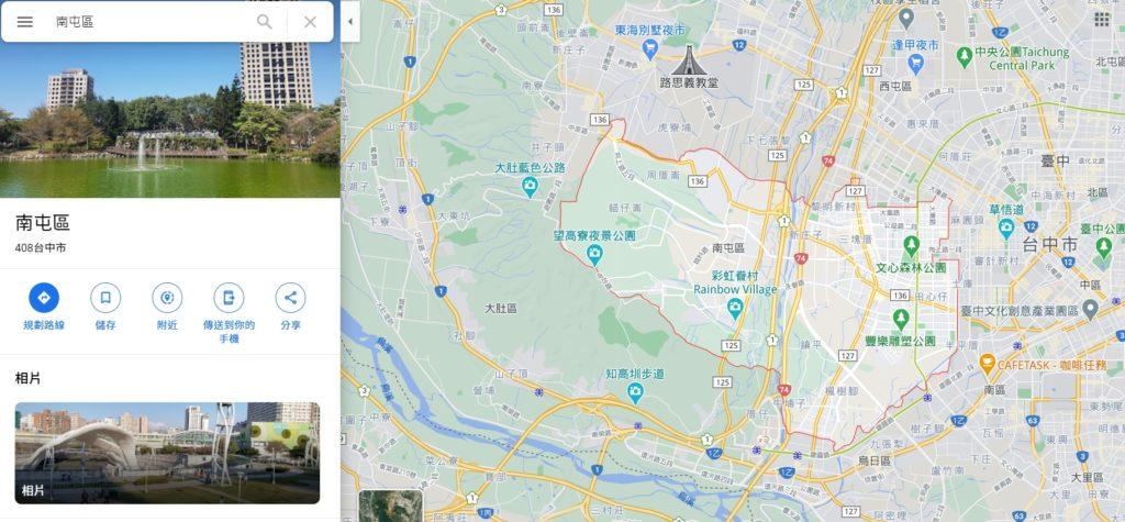 南屯區域圖