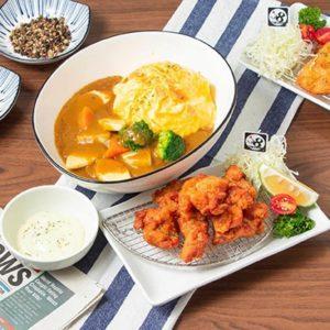 日式炸雞果香咖哩滑蛋飯