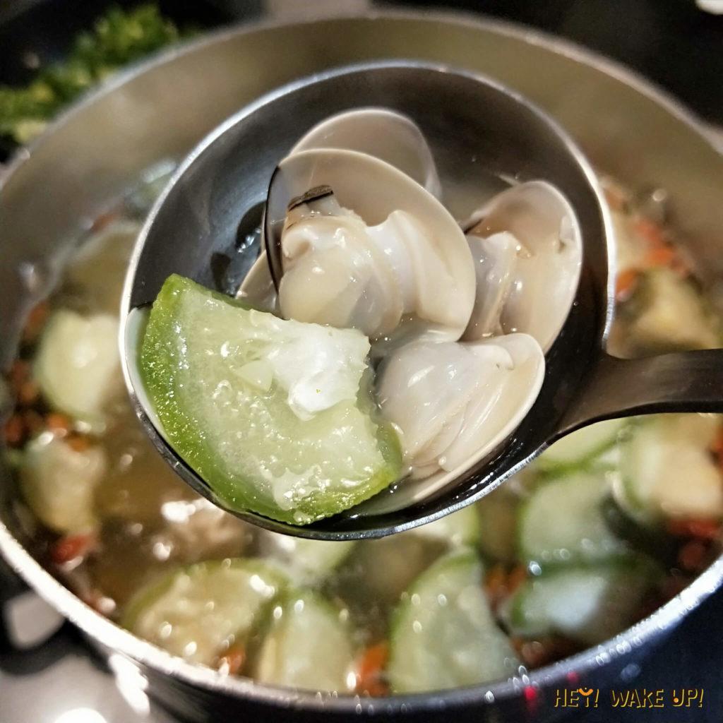 宇良食健康鍋物-湯底:絲瓜蛤蠣