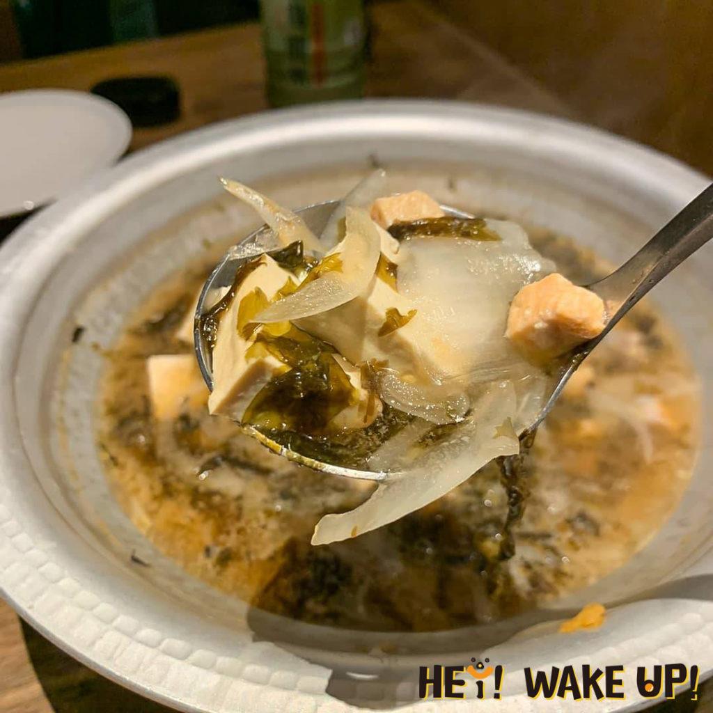 茶六燒肉堂-鮭魚豆腐湯