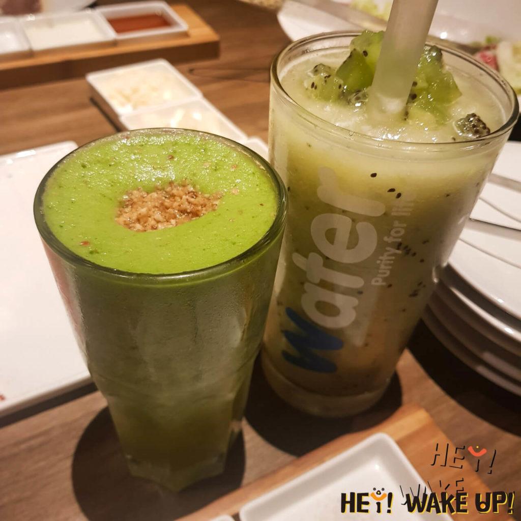 茶六燒肉堂✅綠色蔬果汁+奇異果冰沙