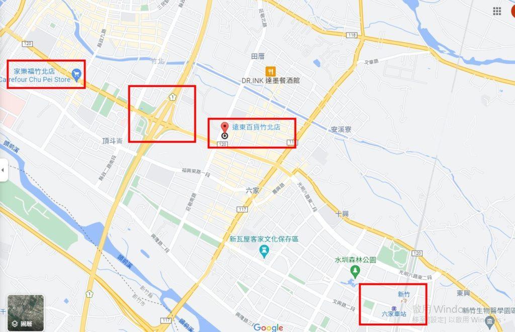 竹北大遠百交通資訊