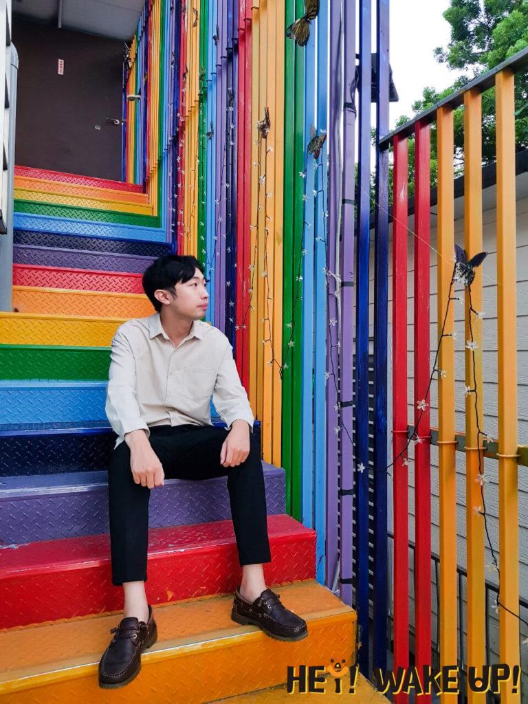 繽紛彩虹樓梯