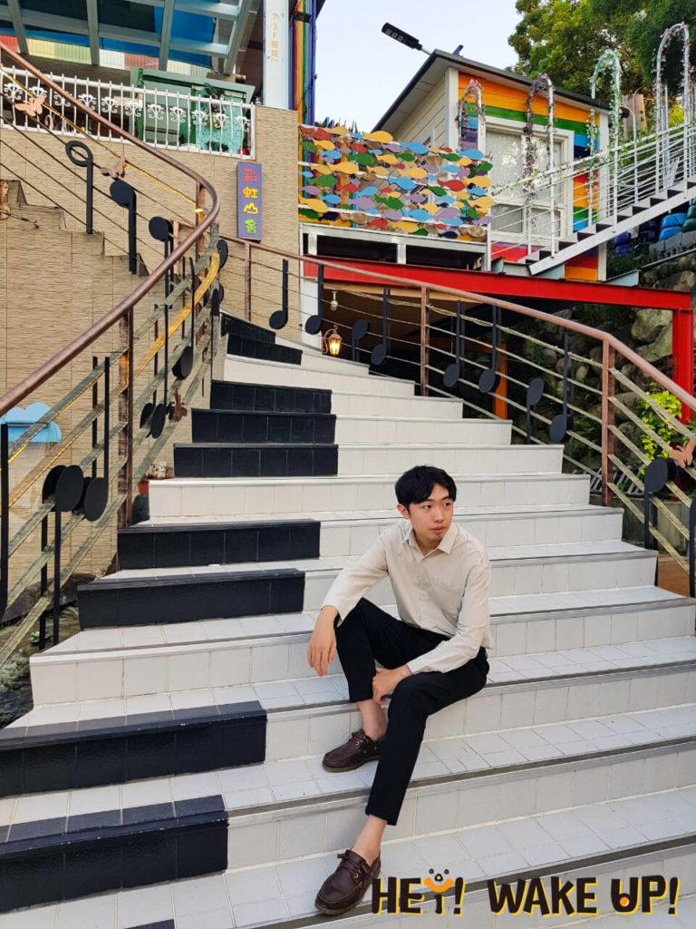 浪漫琴鍵樓梯